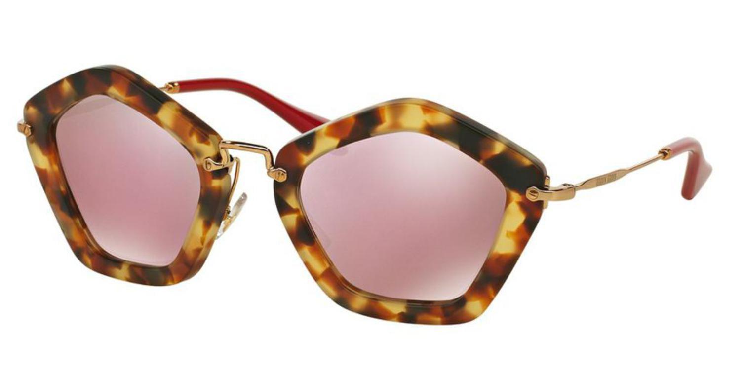 78c8a3f8276c Miu Miu - Sunglasses Miu MU 6 OS UA54M2 SAND LIGHT HAVANA - Walmart.com