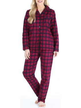 PajamaMania Women's Cotton Flannel Long Sleeve Pajamas