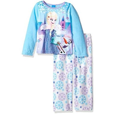Disney Girls' Frozen 2-Piece Pajama Set, Disney Blue, Size: 4T