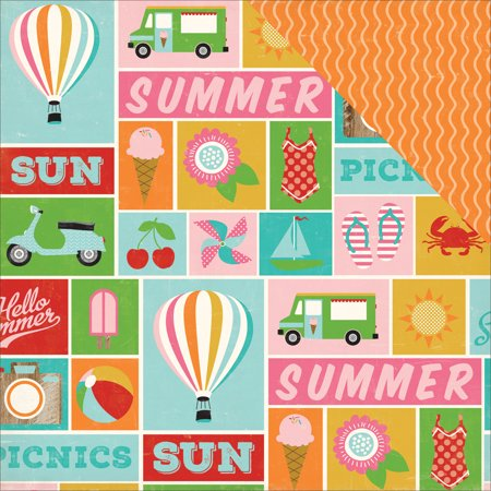Soak Up The Sun Double Sided Cardstock 12 Inch X 12 Inch Summer Ic