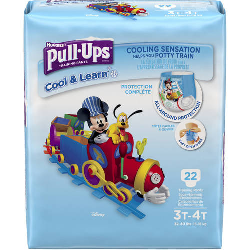 Pull-ups Boys' Cool & Learn Training Pants, Size 3T/4T, 22 Pants