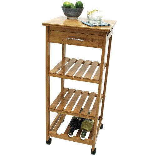 Lipper International Bamboo Kitchen Cart