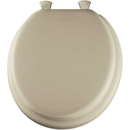 Mayfair 13EC006 Bone Deluxe Soft Toilet Seat ()