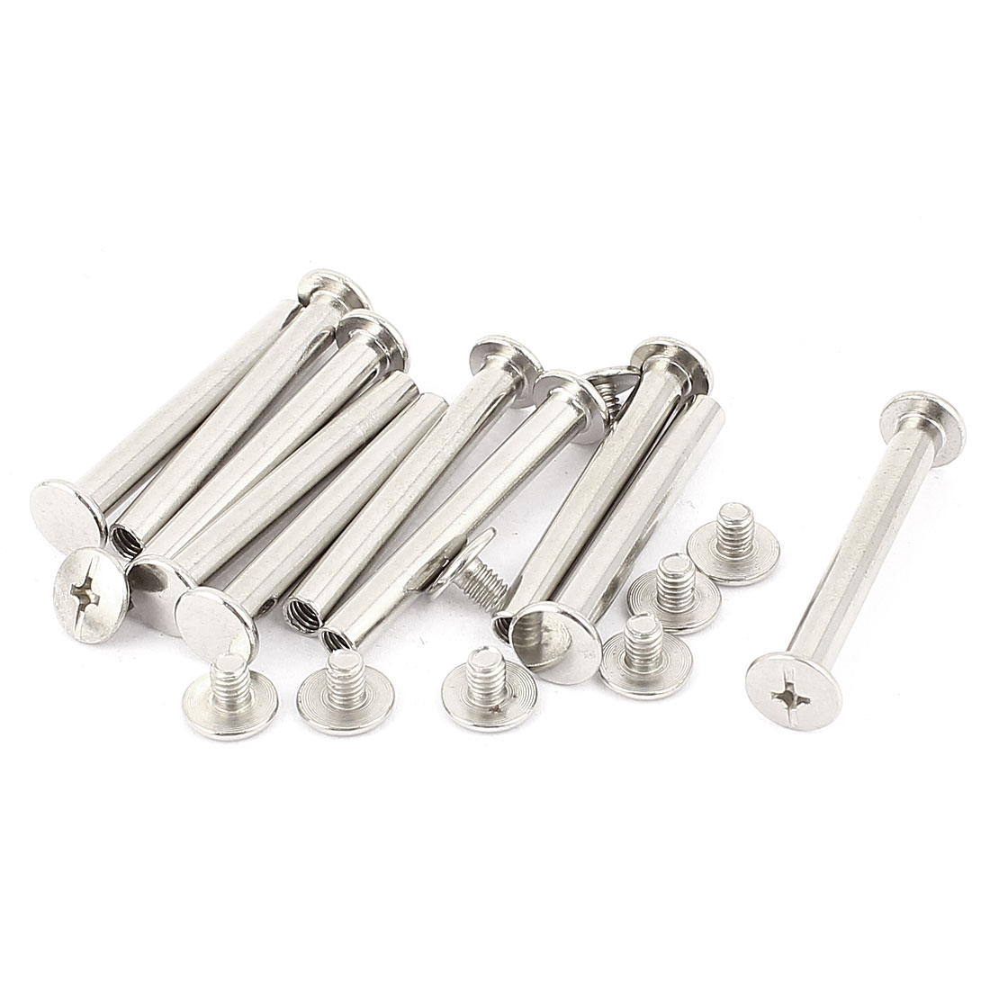 10Pcs M5x40mm Nickel Plated Binding Screw Post for Scrapbook Photo Albums