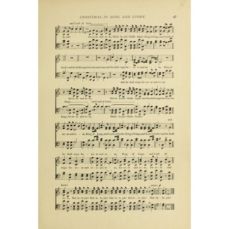 Hallelujah Chorus 2 Christmas In Song 1891 Canvas Art     24 X 36