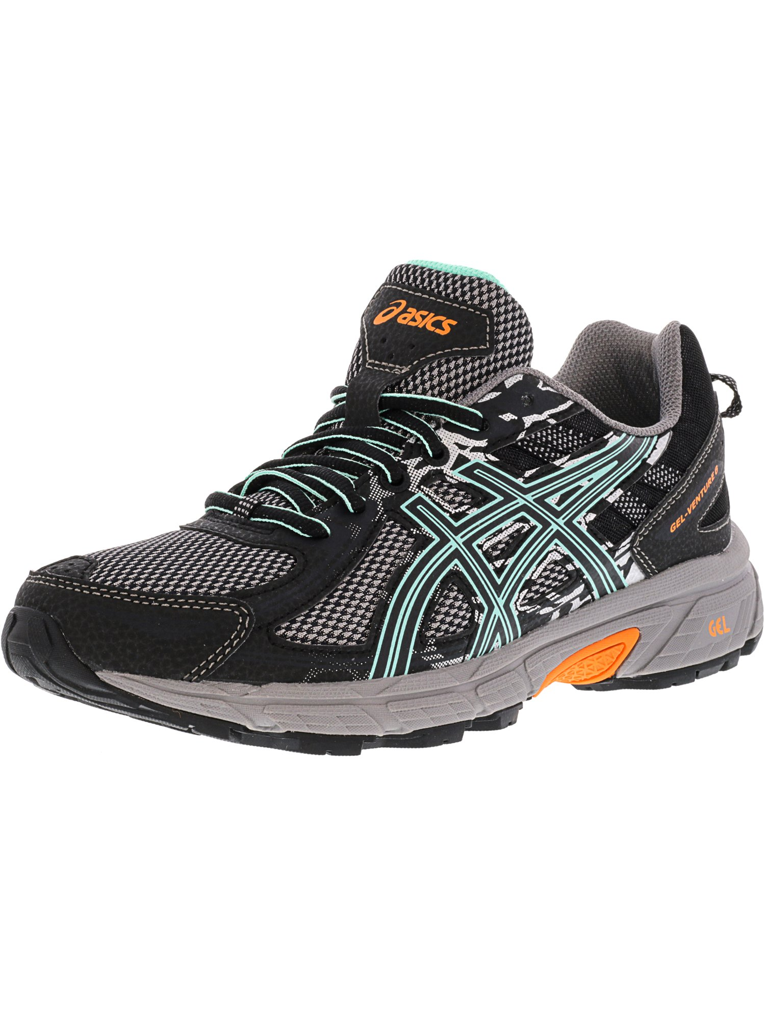 Asics Women's Gel-Venture 6 Black / Carbon Neon Lime Ankle-High Running Shoe - 10.5M