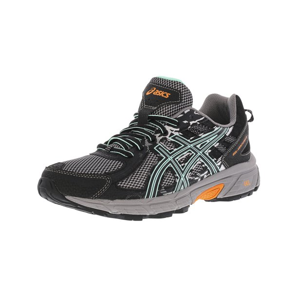 Asics Women's Gel-Venture 6 Black / Ice Green Hot Orange Ankle-High Running Shoe - 6M