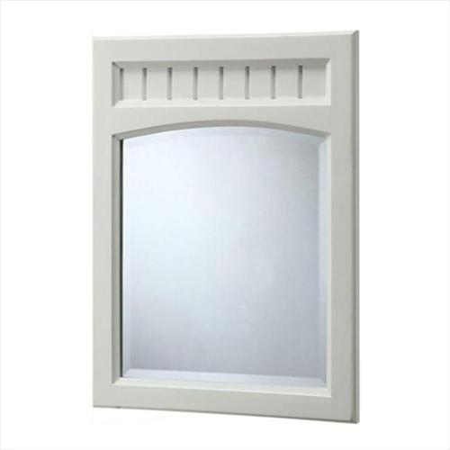 """FEBO F11-AE-017-002AM 26"""" L x 20"""" W Wall Mirror in White"""