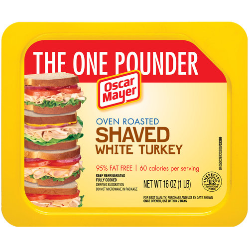 Oscar Mayer Oven Roasted Shaved White Turkey Cold Cuts, 16 oz