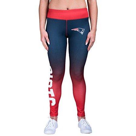 3dfa2ab4 Forever Collectibles NFL Women's New England Patriots Gradient 2.0 Wordmark  Legging