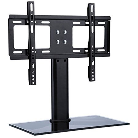 Table Top TV Stand Base, Universal Replacement Tab letop Pedestal Base Stand with Wall Mount Bracket for TV LCD/LED, Plasma Screens 26 up to 32 Inch