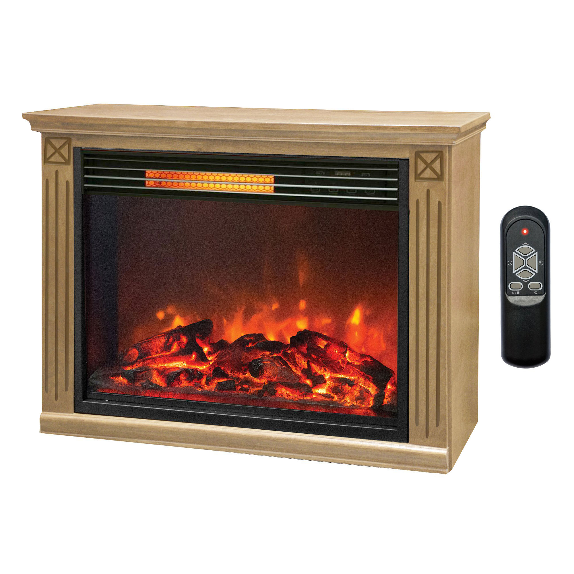 Lifesmart Big Room Electric Infrared Quartz Fireplace Hea...