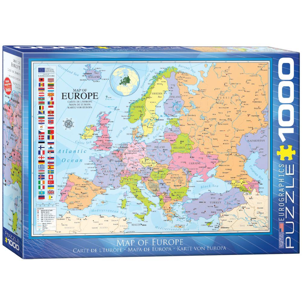 Map of Europe 1000 Piece Puzzle