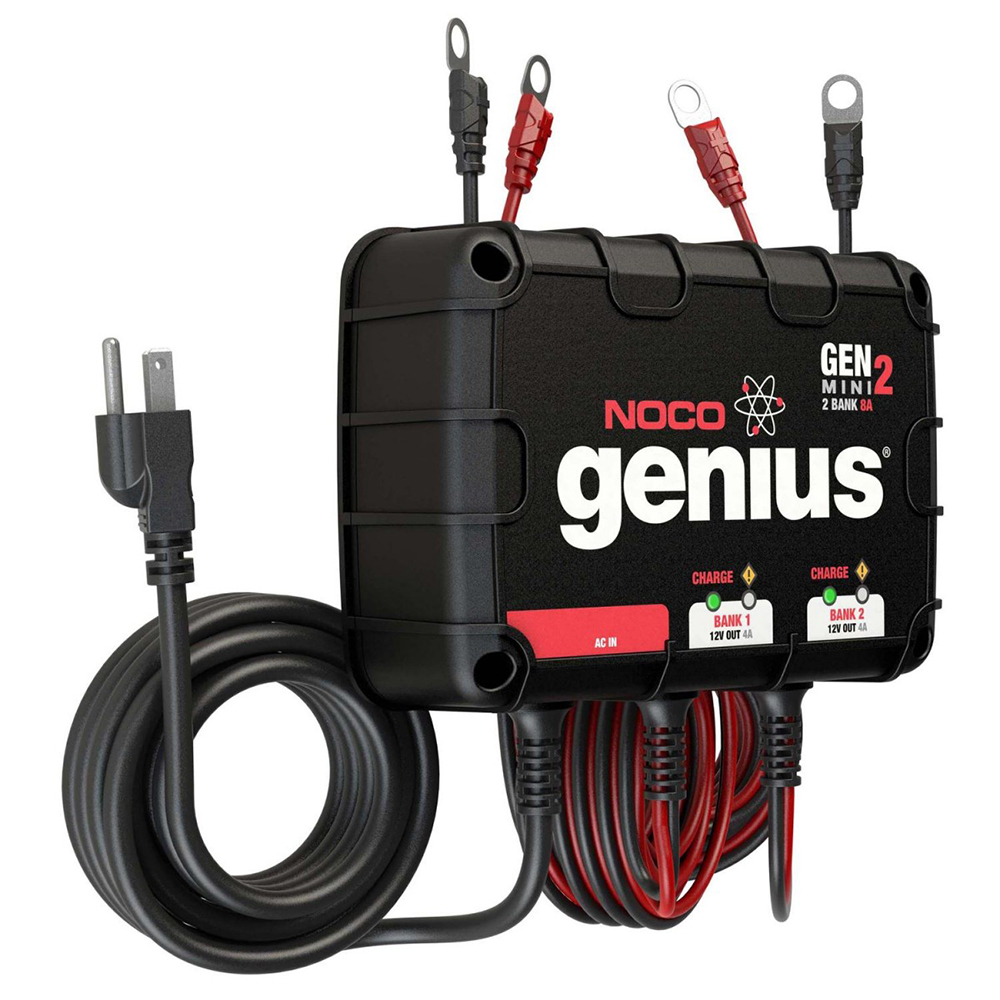 The Amazing Quality NOCO Genius GEN Mini 2 8A Onboard Battery Charger - 2 Bank