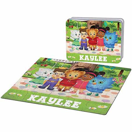 Personalized Daniel Tiger's Neighborhood Friends Puzzle and Gift Tin