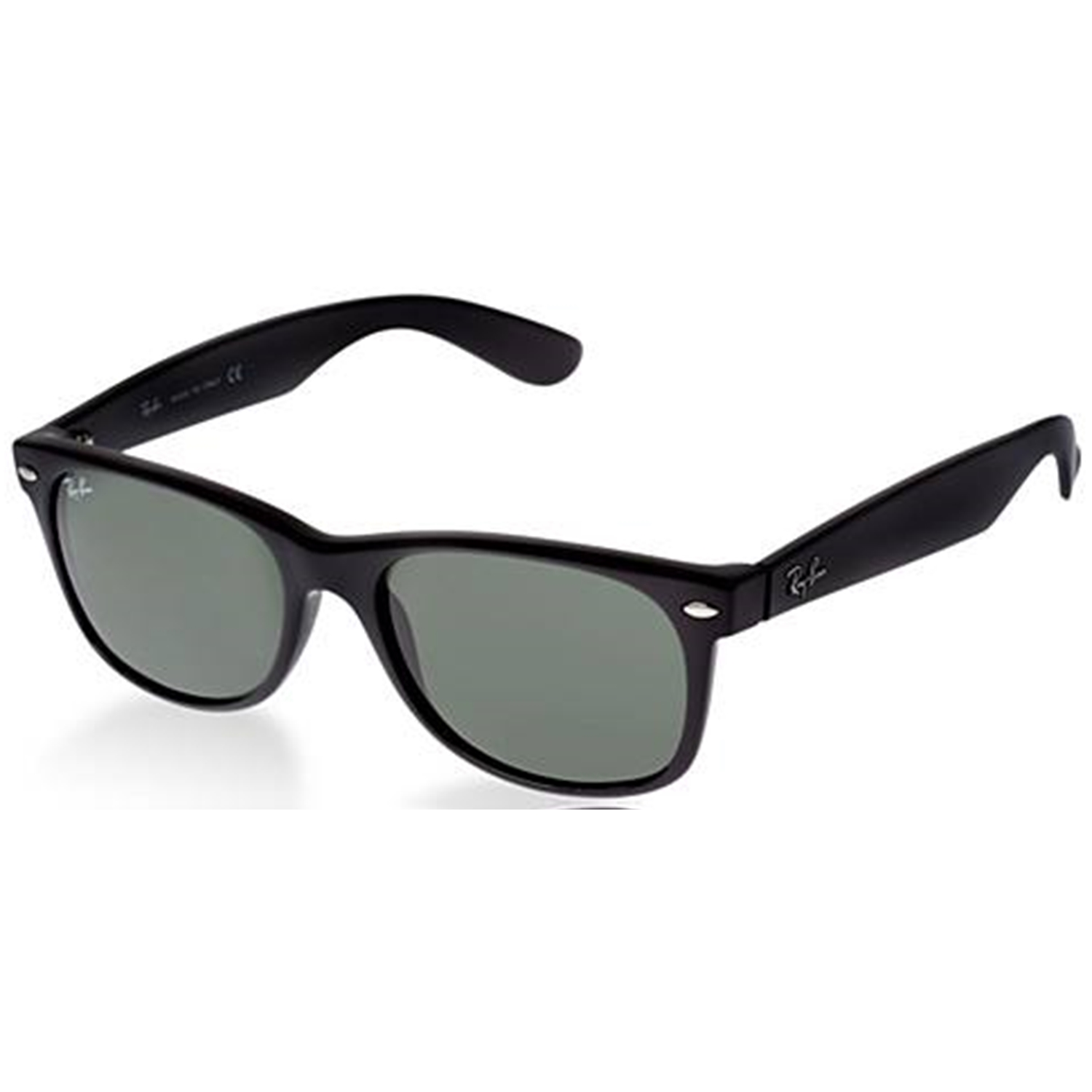 new wayfarer rb2132  Ray-Ban Men\u0027s New Wayfarer RB2132-901L-55 Black Oval Sunglasses ...