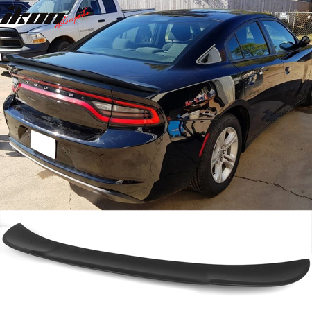 Fits 15-19 Dodge Charger V2 Style Matte Black Rear Trunk Spoiler Wing ABS