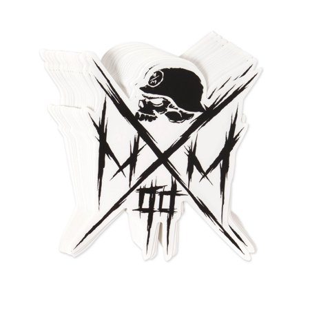 "METAL MULISHA Owned Skull Cross 6"" Sticker Decal"