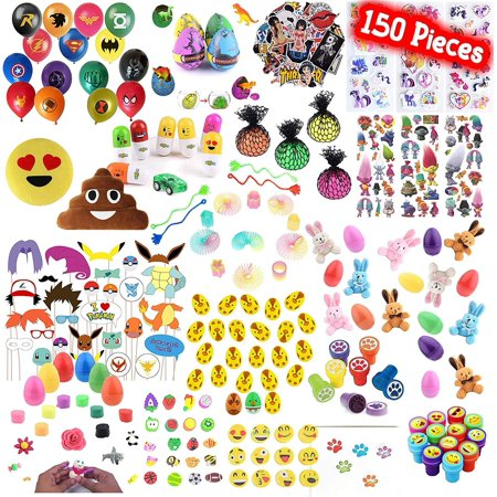 Playoly 150 Pieces Party Favor Kids Little Toys Assortment for Birthday, School, Carnival Prizes, Easter Party Packs, Goodie Bag, Stocking Stuffers and More](Easter Birthday Party)