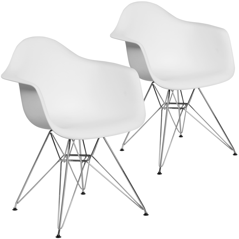 Flash Furniture Plastic Side Chair/Chrome Base