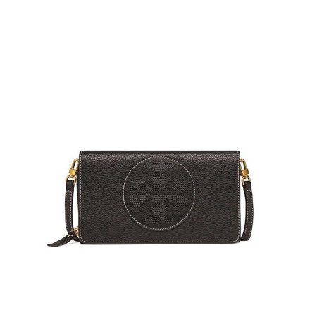 f4c929dbb171 Tory Burch - NEW TORY BURCH (39951) BLACK PERFORATED LOGO FLAT LEATHER  WALLET CROSSBODY BAG - Walmart.com
