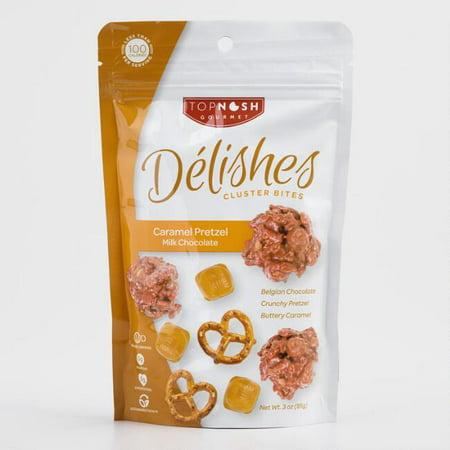 Delishes Caramel Pretzel Milk Chocolate Cluster Bites 3 oz. (Pack of 1)