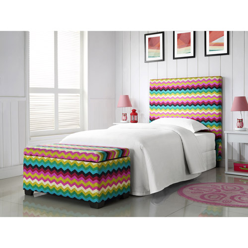 Sophia Collection by Waverly Panama Wave Twin Headboard and Matching Storage Trunk