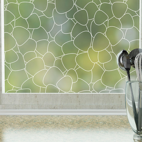 Stick Pretty Pebbles Privacy Window Film