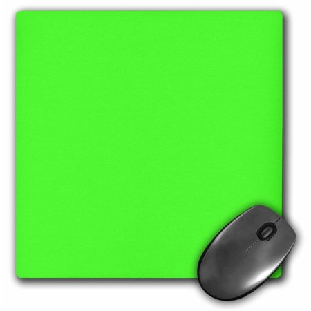 3Drose Neon Green   Bright Vibrant Electric Green   Plain Simple One Single Solid Color   Lime  Mouse Pad  8 By 8 Inches