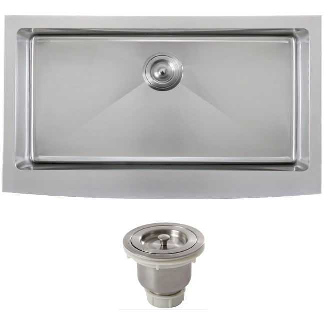 Ticor 4415BG BASK 36 Inch 16 Gauge Stainless Steel Curved Front Undermount  Apron