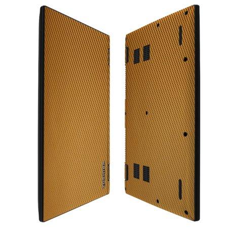 Skinomi Gold Carbon Fiber Skin   Screen Protector For Toshiba Satellite Radius 14   2015