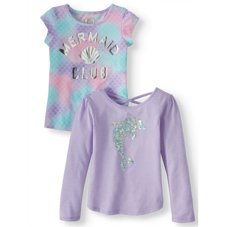 Long Sleeve and Short Sleeve Tees, 2-Pack (Little Girls & Big - Pinterest Girls