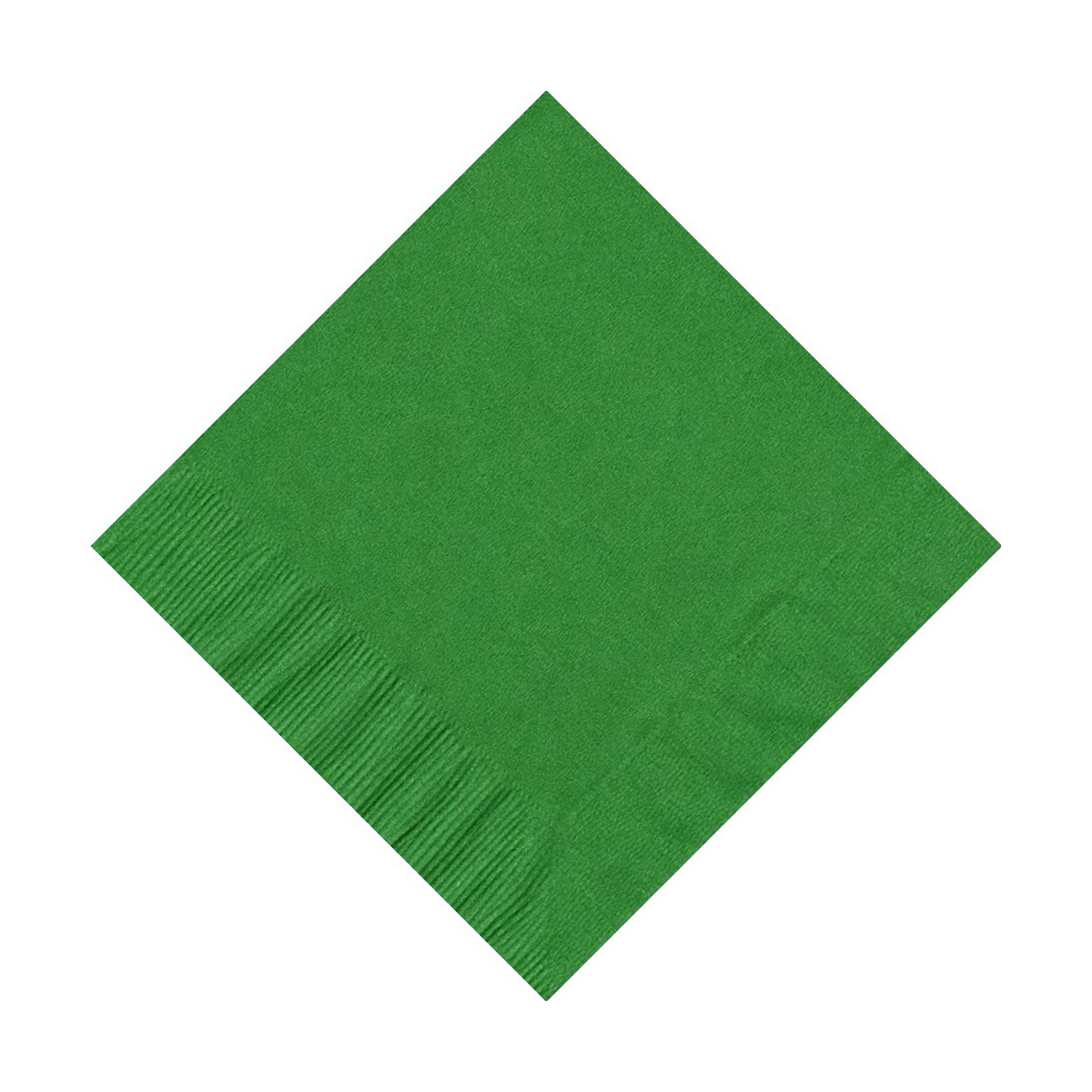 600 (12 Pks of 50) 2 Ply Plain Solid Colors Beverage Cocktail Napkins Paper Kelly Green by CREATIVE CONVERTING