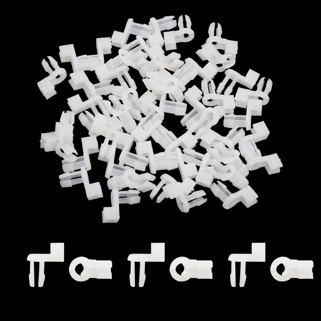 50Pcs Plastic Rivets Fastener Clips Engine Lining Retainer White 5mm for Car - image 1 de 3