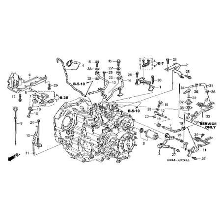 Honda 25920-P7W-000 Transmission Cooler Pipe B Honda