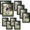 Traditional Black Wood Frame Set, Set of 10