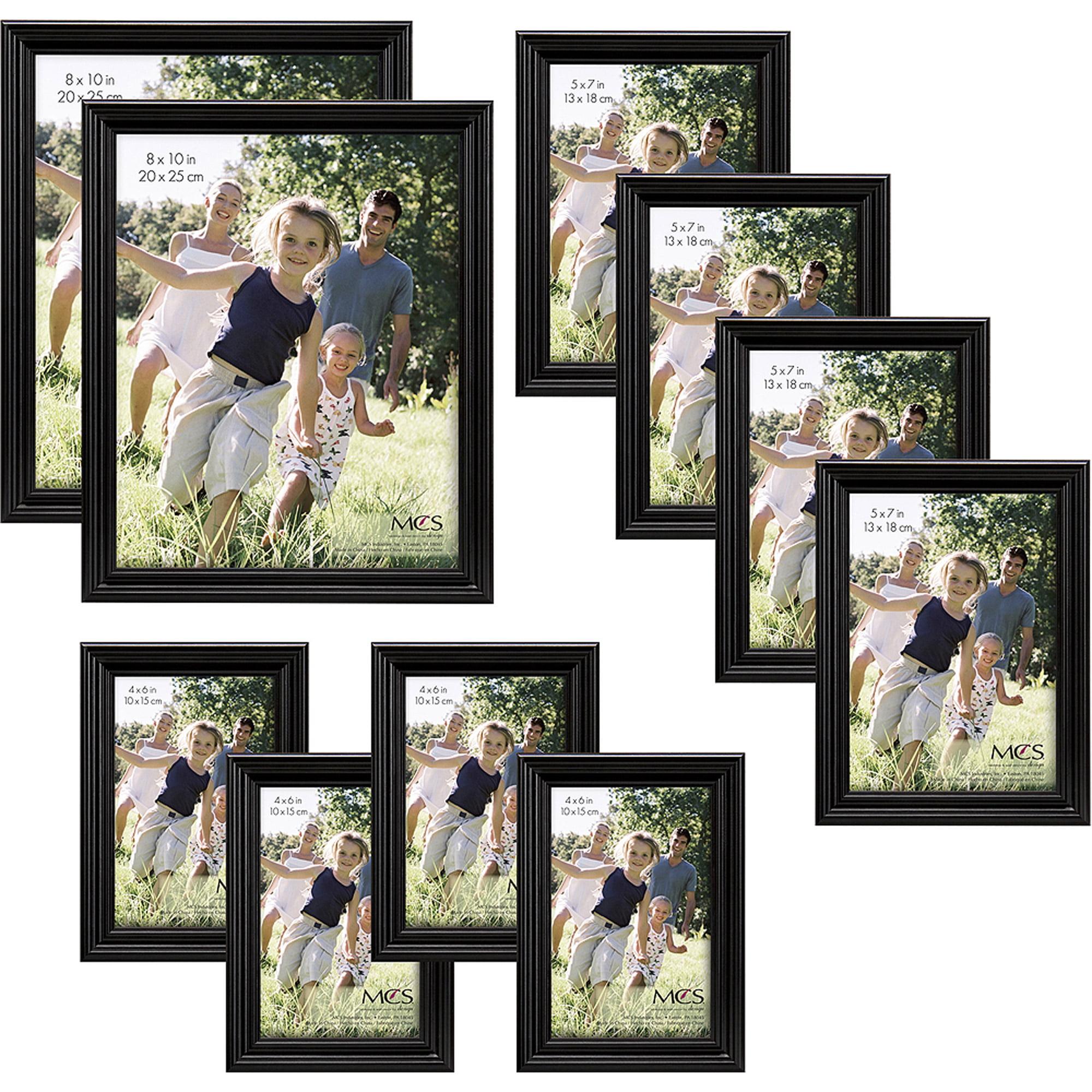 Traditional Black Wood Frame Set, Set of 10