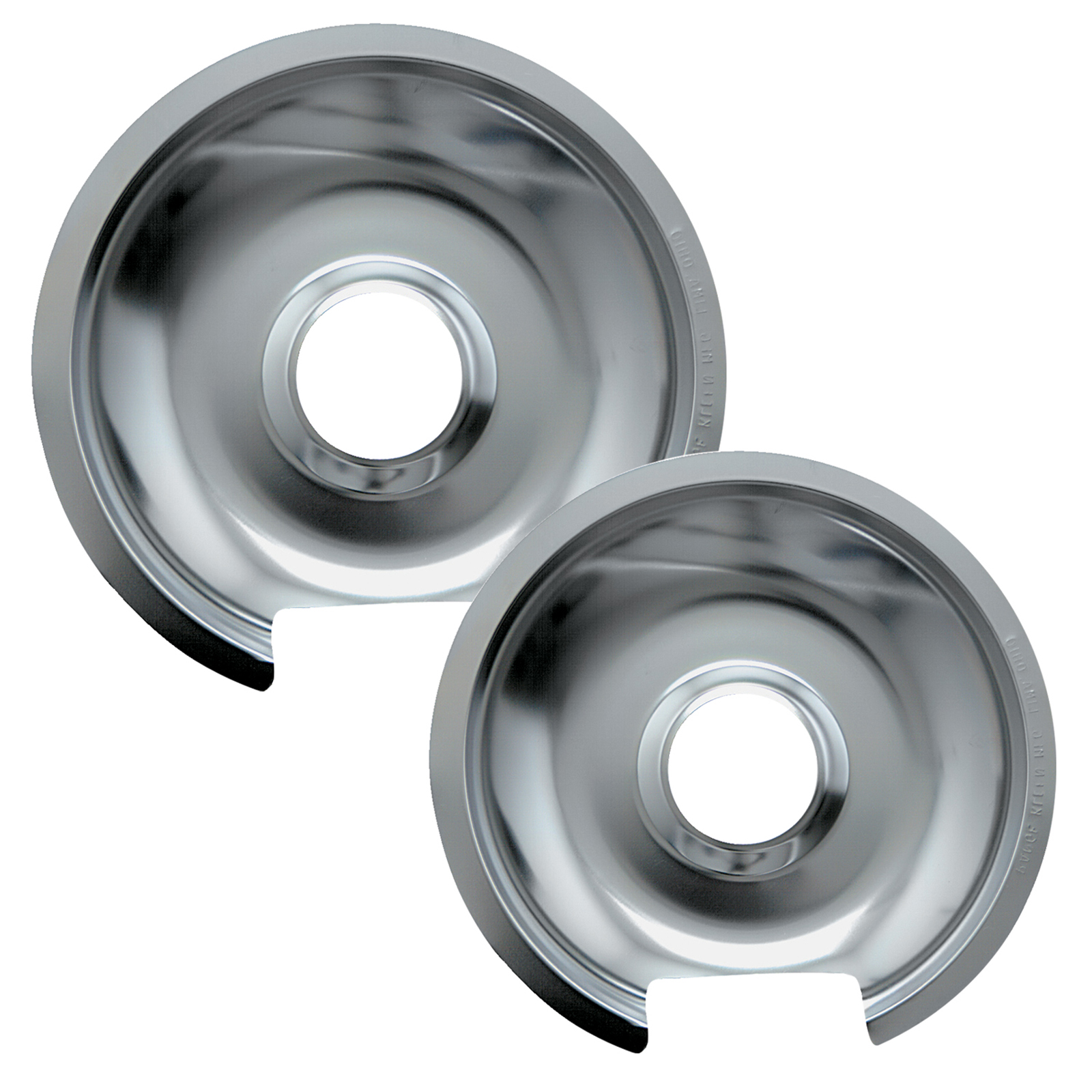 Range Kleen Drip Pans Style D Chrome