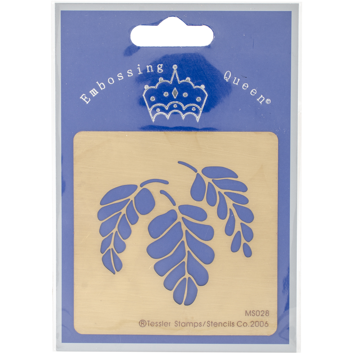 "Embossing Queen Brass Stencil 3""X3""-Leaf #3"
