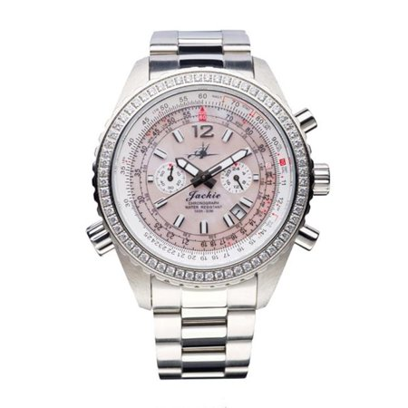 Abingdon 0610696150592 Aviatrix Collection Jackie - Sunset Pink Stainless Steel Women Watch