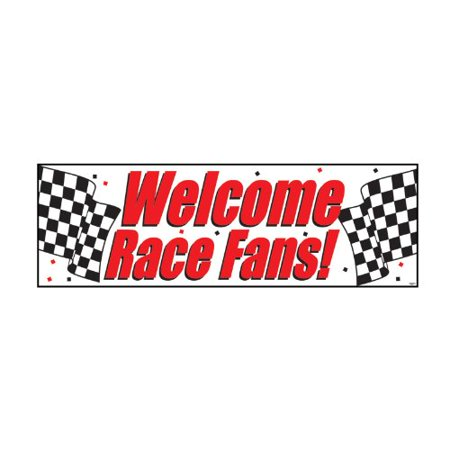 Racing Giant Party Banner, 1 pk