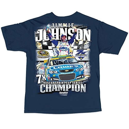 Jimmie Johnson NASCAR 2016 Sprint Cup Champion Short Sleeve 7X Champ T-Shirt (3x-large)