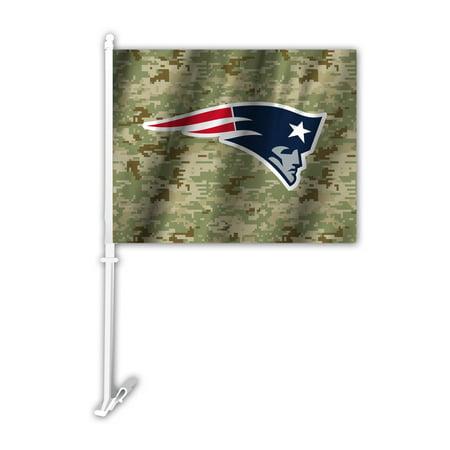 NFL New England Patriots Camo Car Flag - Patriots Car