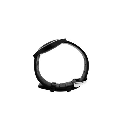 Misfit Pebbled Leather Band, (Black Leather Band)