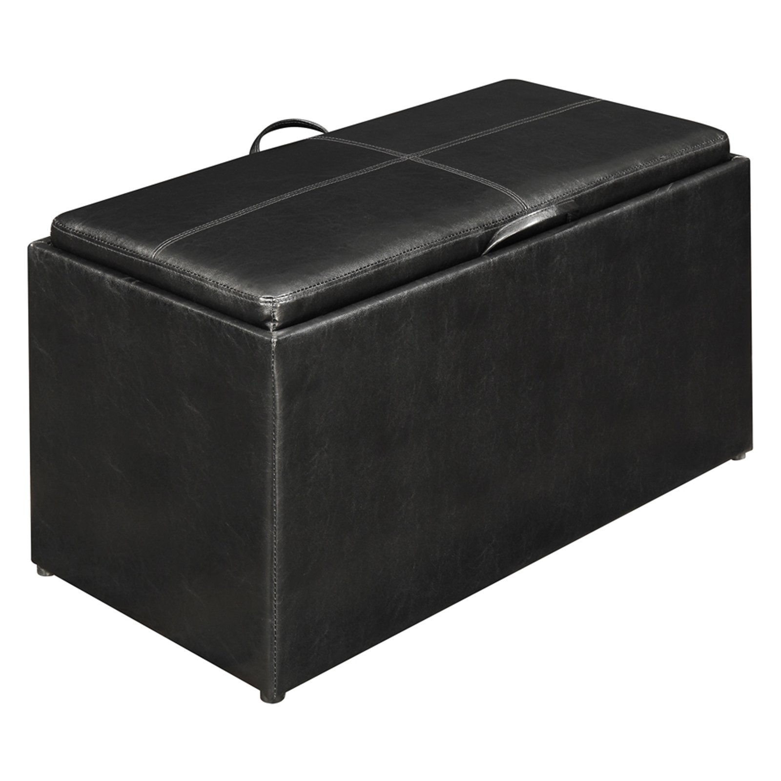 Designs4Comfort Faux Leather Storage Bench With 2 Side Ottomans, Multiple  Colors   Walmart.com