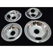 Range Top Drip Pans for Whirlpool, Sears, 3 of W10196406 & 1 of W10196405