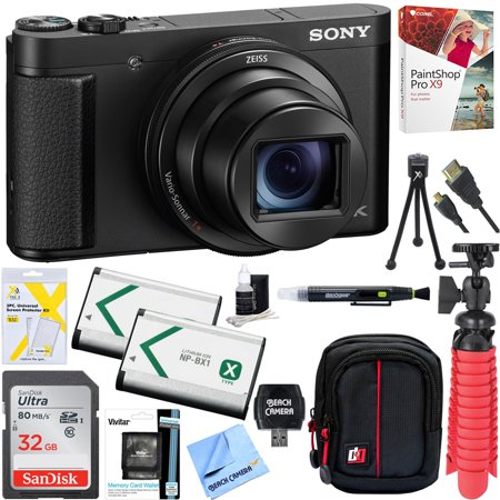 Sony Cyber-Shot DSC-HX99 High Zoom 4K Camera + 32GB SDHC Memory Accessory Bundle (Nikon Camera Point And Shot)