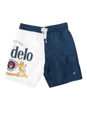 Modelo Board Shorts Beer Cerveza Label Logo Men's Swim Trunks (S)
