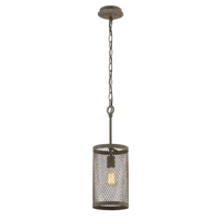 Pendants 1 Light With Old Taern Iron Finish Hand-Worked Iron Material Medium 15 inch Long 60 Watts
