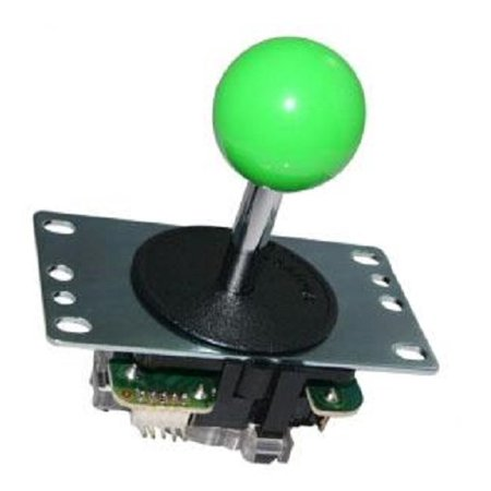 Sanwa Stick (Original Sanwa Arcade Joystick with Green Ball, 4-way or 8-way positions, JLF-TP-8YT-SK)